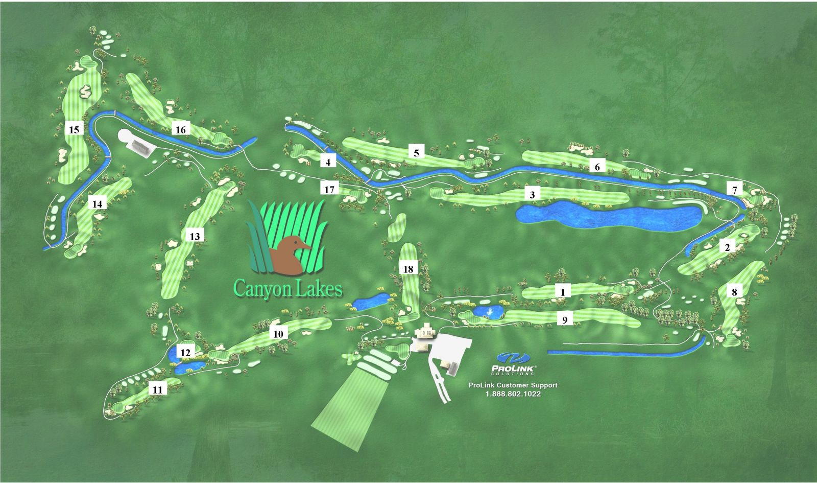 Canyon Lakes Golf Course Map and Link to it on their website